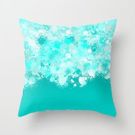 paint splatter on gradient pattern dri Throw Pillow
