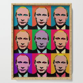Retro Putin Serving Tray