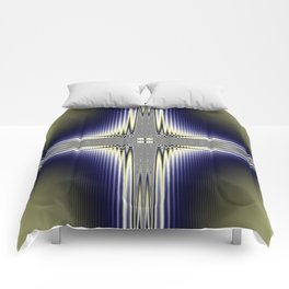 Fractal Cross Comforters