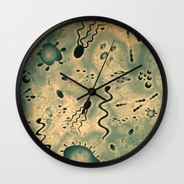 Microscopic Microbes Wall Clock