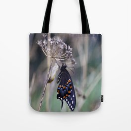 Butterfly emerging from cocoon Tote Bag