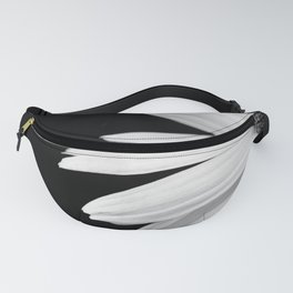 Half Daisy in Black and White Fanny Pack