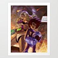 Megaman X Samus Art Print