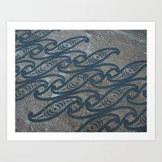 Kiwi Waves DPG150528a Art Print
