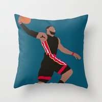 lebron Throw Pillows featuring Lebron by rusto