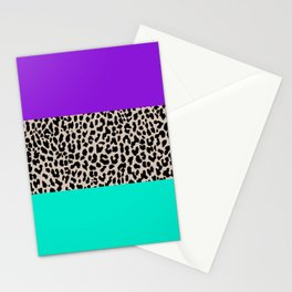 Leopard National Flag III Stationery Cards
