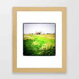 Falling Down Framed Art Print