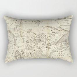 Territory of Minnesota Map (1849) Rectangular Pillow