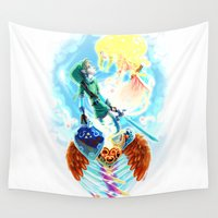 zelda Wall Tapestries featuring Skyward - Zelda by mmishee