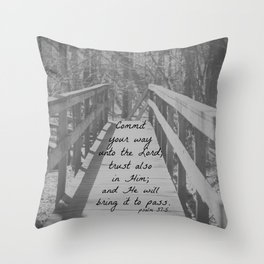 Psalm 37:5 Commit Throw Pillow