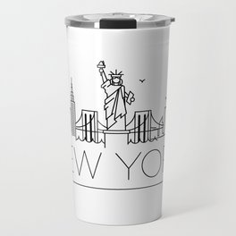 Minimal New York Skyline Design Travel Mug