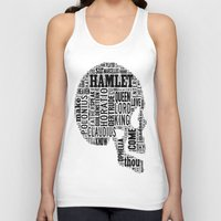 hamlet Tank Tops featuring Shakespeare's Hamlet Skull by MollyW