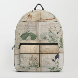 The Voynich Manuscript Quire 1 - Natural Backpack