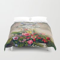 angels Duvet Covers featuring angels by Mariedesignz