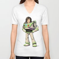 buzz lightyear V-neck T-shirts featuring Woody Lightyear (colour) by Other People's Characters