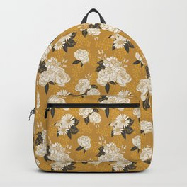 Glam Florals - Gold Backpack
