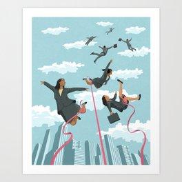 Pink Tape Art Print