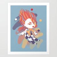 kuroshitsuji Art Prints featuring Kuroshitsuji: Little Joker by El Cadejos