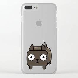 Pitbull Loaf- Brindle Pit Bull with Cropped Ears Clear iPhone Case
