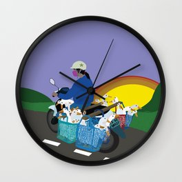 Transporting Geese Wall Clock