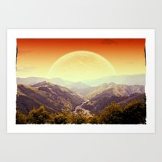 Highland Sunset  Art Print