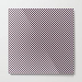 Ballet Slipper and Black Polka Dots Metal Print