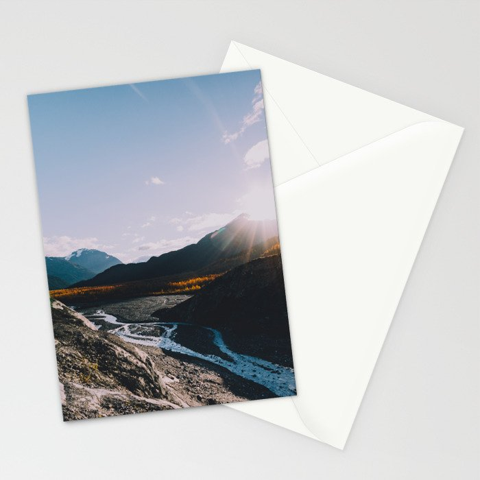 Glacial Meltwater Sunrise - Kenai Fjords National Park Stationery Cards