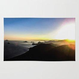 Sunset on the horizon Rug