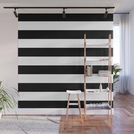 Stripe Black And White Horizontal Line Bold Minimalism Stripes Lines Wall Mural