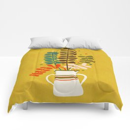 Potted Leaves Comforters