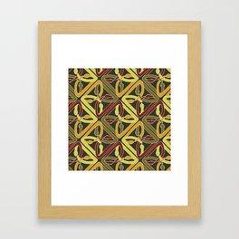 earth protractor snakes Framed Art Print