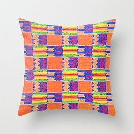 African Influence Textile Throw Pillow