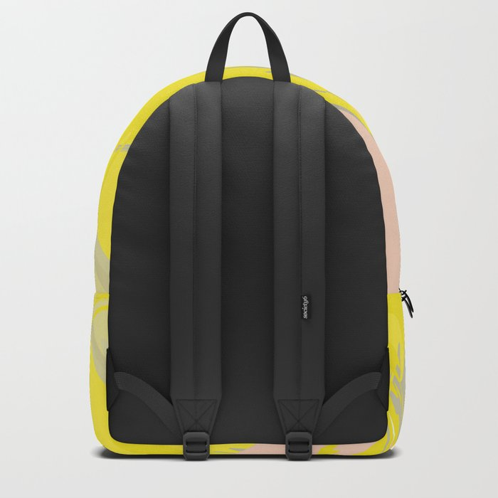 Lovely Summer - Abstract - Coral, Yellow, Sand Backpack