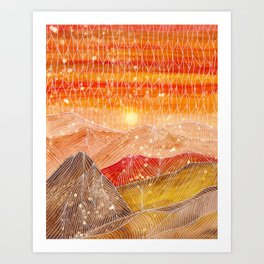 Lines in the mountains XXIV Art Print