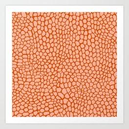 Reptile in Pink and Orange Art Print