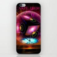 carpe diem iPhone & iPod Skins featuring Carpe Diem by Walter Zettl