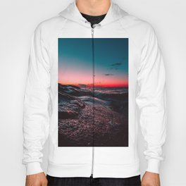 Pink ocean from sunset Hoody