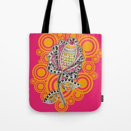 Madhubani - Fish Flower 1 Tote Bag