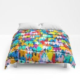 Rainbow Puzzle Comforters