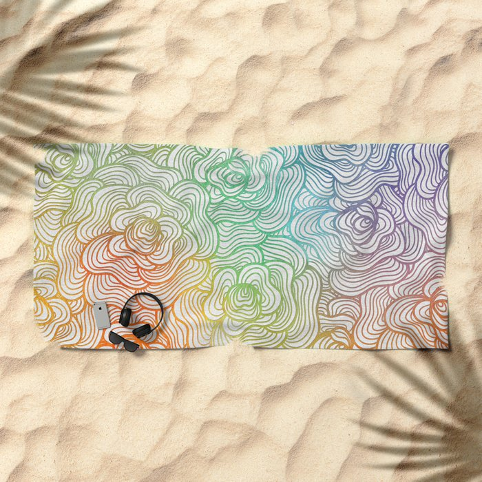 Abstract Roses 2 Beach Towel