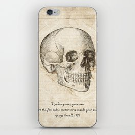 Skull Quote By George Orwell iPhone Skin