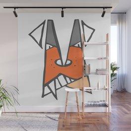 Orange dog Wall Mural