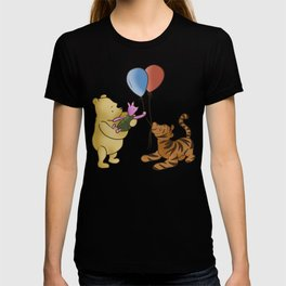 Pooh and Friends with Balloons (White/Transparent) T-shirt