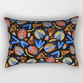 Moody Ladybug Botanical  Rectangular Pillow
