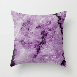 Purple Agate Throw Pillow