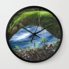 Enchanted magical forest Wall Clock
