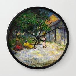 1887 - Gauguin - Village in Martinique (Femmes et Chevre dans le village) Wall Clock