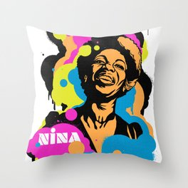 Soul Activism :: Nina Simone Throw Pillow
