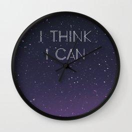 I Think I Can Wall Clock