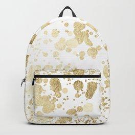 Trendy elegant faux gold modern confetti pattern Backpack
